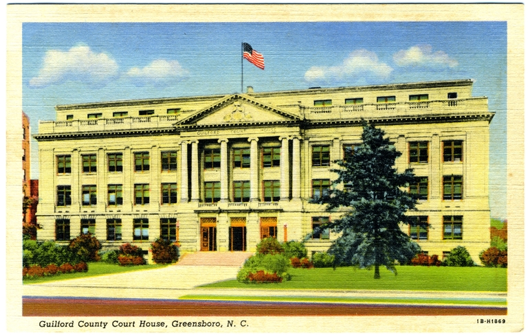 Guilford County Courthouse, Greensboro, Guilford County