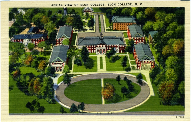 Aerial View of Elon College